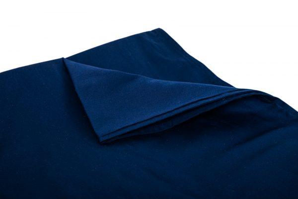 Verzwaringsdeken Hoes Katoen Blauw hoek