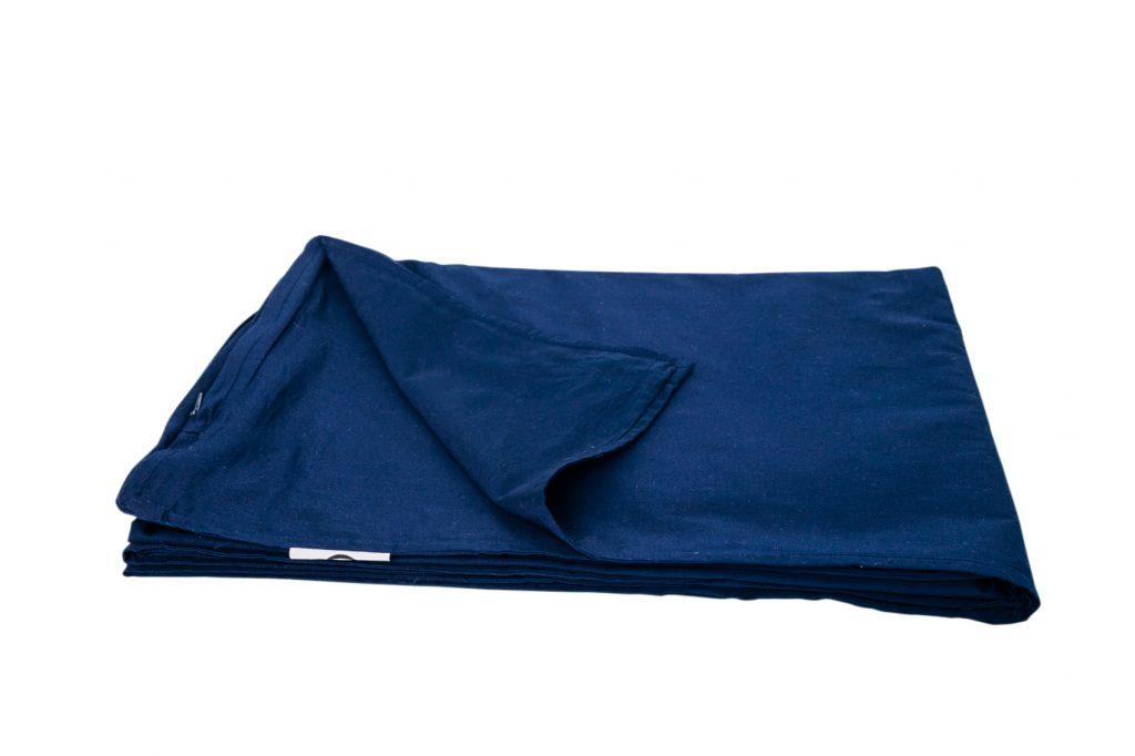 Verzwaringsdeken Hoes Katoen Blauw gevouwen