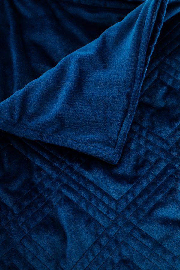 Verzwaringsdeken hoes minky blauw zoom